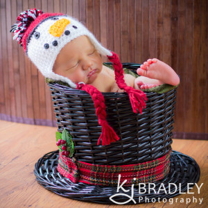 Newborn Snowman Hat  & Basket