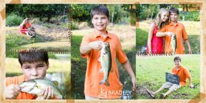 Siblings fishing