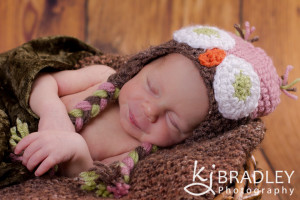 newborn girl owl hat