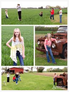 photography workshop on the Bradley farm