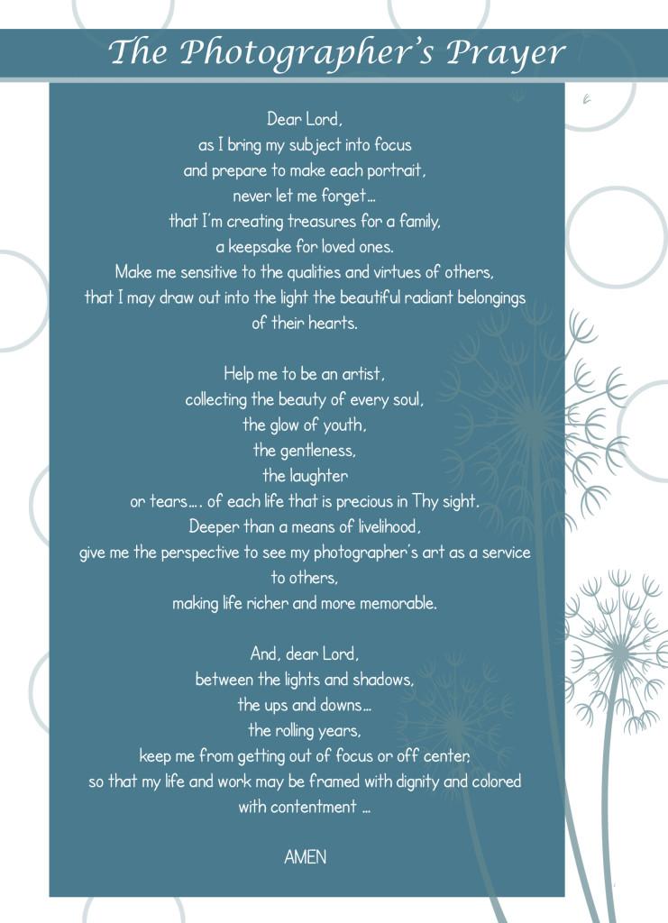 Photographer's Prayer