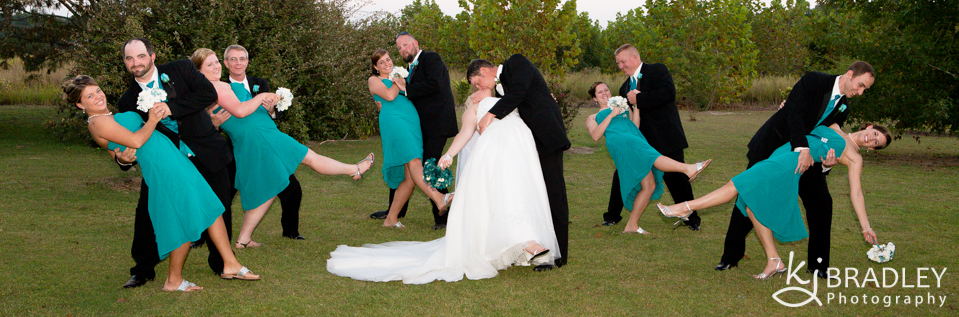wedding_party_dip_silly_rocky_mount_nc_photographer