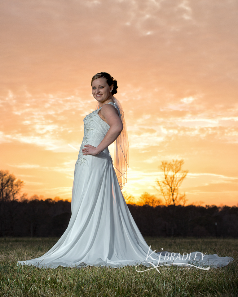 sunset_bride_rocky_mt_nc_kj_bradley_photography