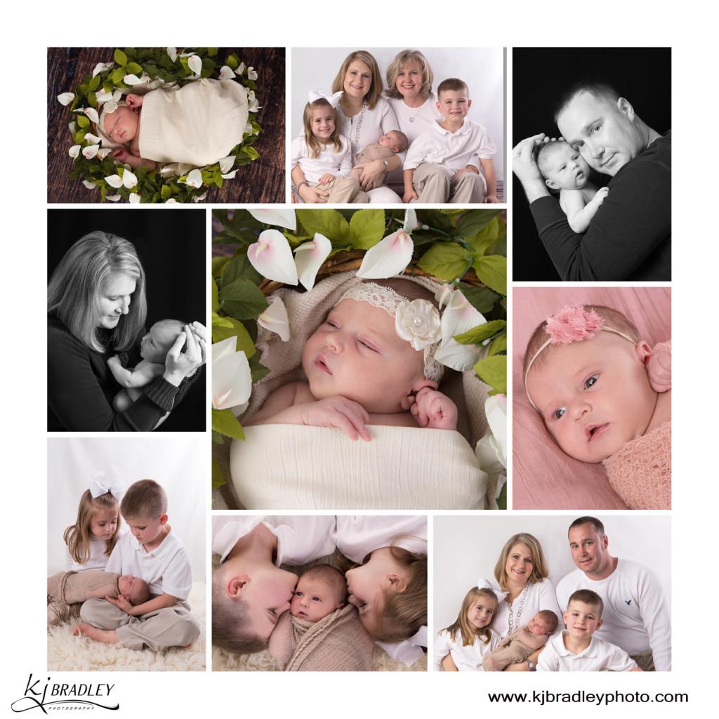 Newborn Portrait Session with Four Generations